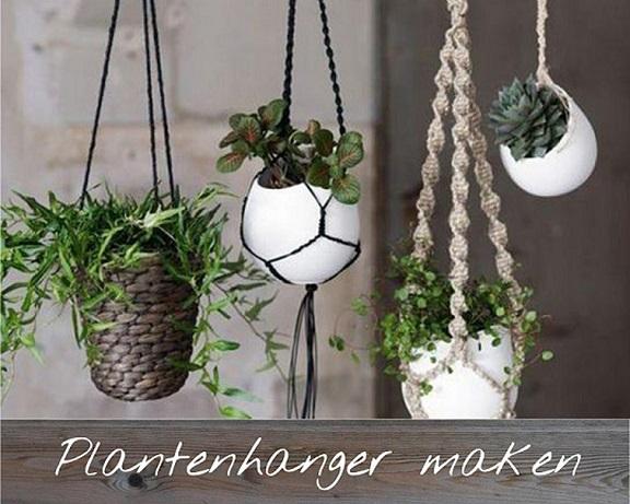 Creatief met kringloop plantenhanger maken